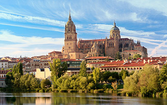 Salamanca River and Cathedral